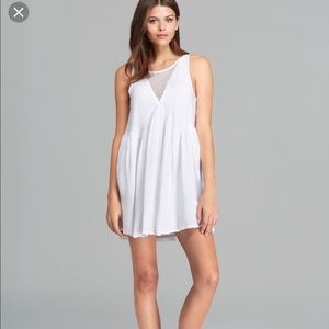 MINKPINK White Mesh Panel Dress Pockets